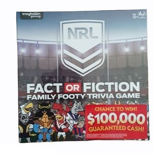 2019 Fact Or Fiction Family Footy Trivia Game New